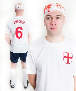 Terry Butcher Bloody Head Bandage England Football Fancy Dress Costume